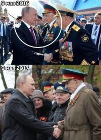 Ходят тут всякие! Охранники Путина грубо оттолкнули ветерана с пути президента