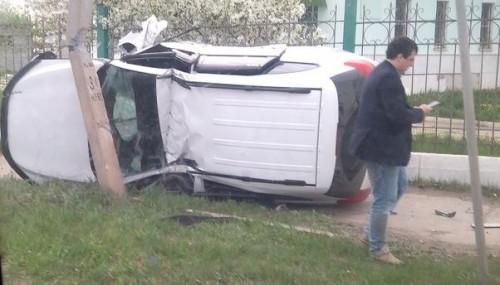 Ехал на работу в Магнитогорск. Водитель в Агаповке перевернулся на своем авто