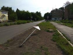 «Кто-то психанул». На перекрестке Мичурина - Правды снесли новые дорожные знаки