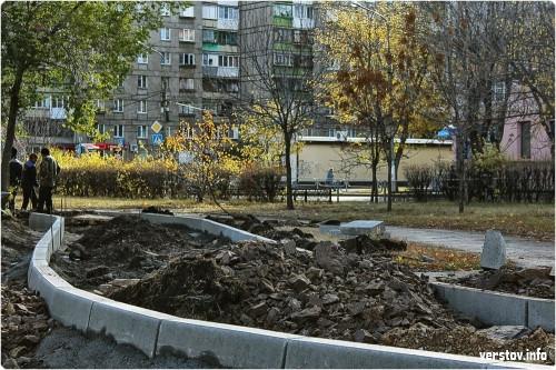 Восемь миллионов на все работы. В Магнитогорске приступили к благоустройству сквера имени Б. Ручьева