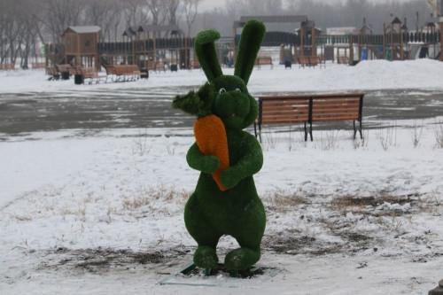 Магнитогорскому зайцу вернули морковку. А вандалов пока не нашли