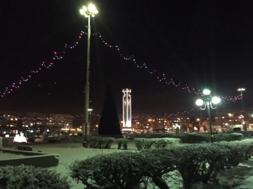 Красота какая! Магнитогорские куранты подсветили к Новому году