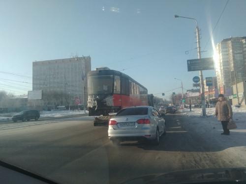 В «Маггортрансе» пополнение! В город привезли два новых трамвайных вагона