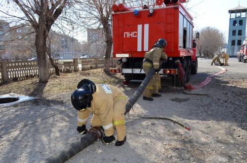 Провели учения и командно-штабную тренировку. Огнеборцы Магнитогорска готовятся к пожароопасному периоду