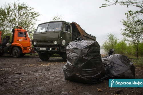 Муниципальные служащие вышли на уборку прибрежной зоны. Она оказалась завалена покрышками и мусором