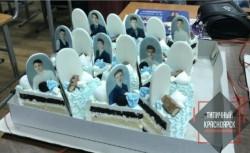 Светлое будущее. Выпускникам школы подарили торт с надгробиями