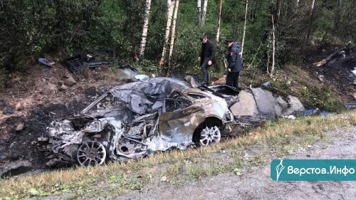 Его еще не опознали. Водитель заживо сгорел в своей машине после столкновения с большегрузом