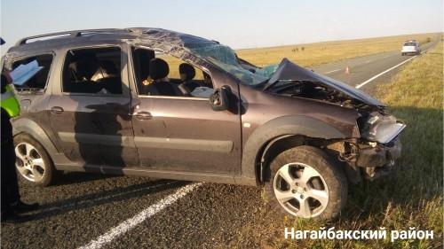 Переворот на трассе. Водитель «Ларгуса» погиб в результате ДТП