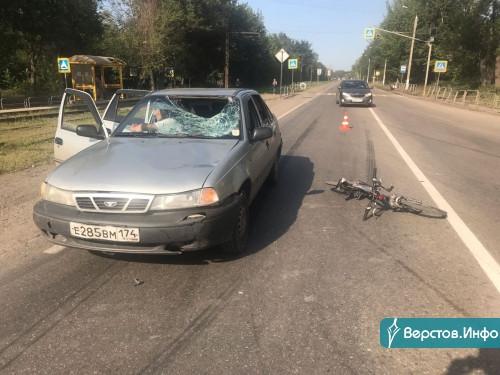 13-летний мальчик в реанимации. Водитель «Нексии» сбил юного велосипедиста на «зебре»