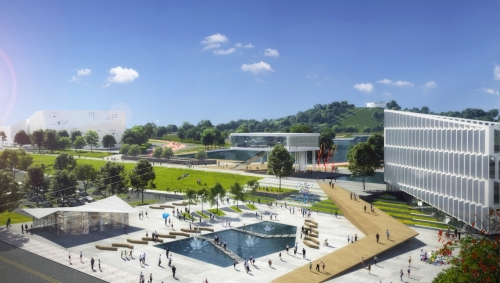 Вот такое «Притяжение». Появились первые 3D-эскизы будущего магнитогорского парка