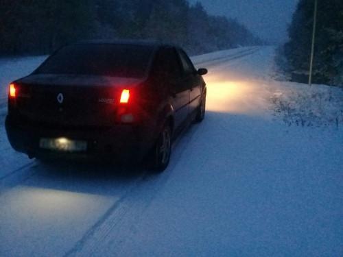 Пришлось плестись. На дороге Магнитогорск – Белорецк выпал первый снег