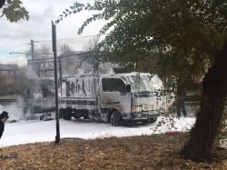 Вспыхнули на ходу. За сутки в Магнитогорске горели экскаватор и грузовик