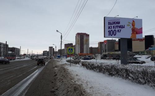 Курицы в Магнитогорске. Очередной шедевр креативной рекламы на городских улицах
