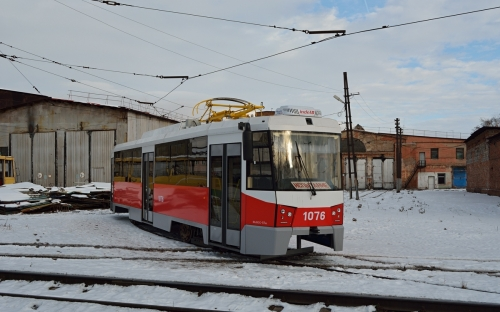 Еще один вагон из Екатеринбурга. Трамвайный парк «Маггортранса» продолжает обновляться