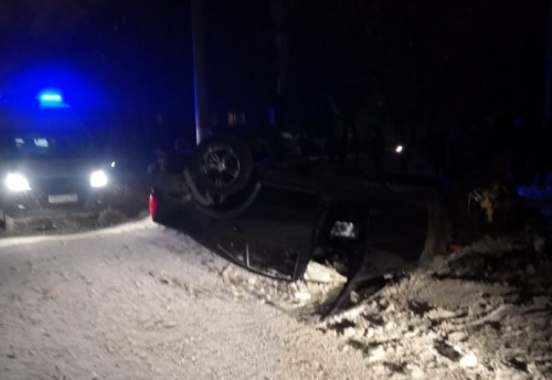 На Галиуллина погиб водитель перевернувшейся иномарки. Он не был пристёгнут и вылетел из салона