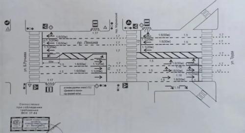 Из-за покупателей «Пятёрочки»? На перекрёстке Ленина – Ручьёва изменили движение