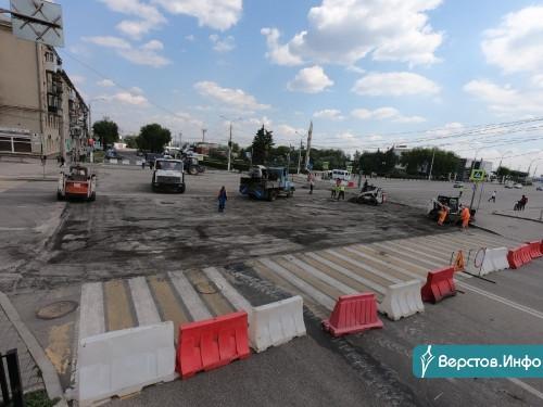 Нужно потерпеть. В Магнитогорске серьёзные пробки из-за ремонта перекрёстка Ленина – Гагарина