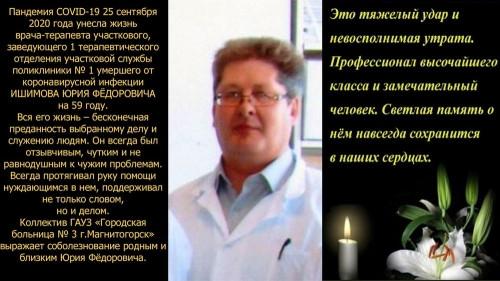 Ковид нанёс очередной удар. В Магнитогорске скончался руководитель терапевтического отделения поликлиники № 1