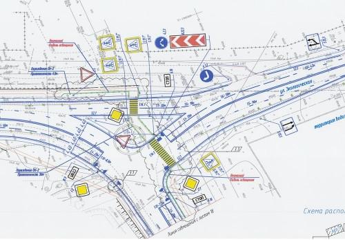 Т-образный перекрёсток вместо кругового. На пересечении улиц Зелёной и Экологической поставят светофор