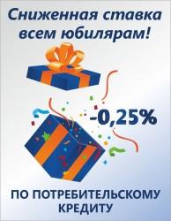Лучший подарок в день рождения! Банк «КУБ» (АО) дарит сниженную ставку всем юбилярам